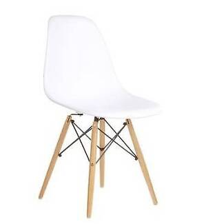 Replica Eames DSW Side Chairs (x2) Natural Wood Eiffel Base