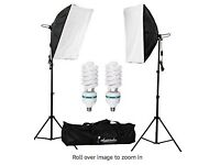 Photography: 2x soft boxes + backdrops + clips