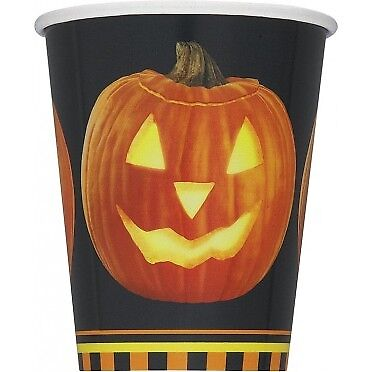 8 9oz Pumpkin Glow Paper Cups