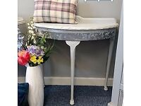 Vintage demi lune console table