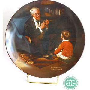 "Norman Rockwell ""The Tycoon"" decorative plate"