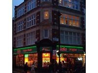 Offices located on the third and fourth floors of a beautiful old building on Charing Cross Road