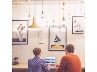 Offering creative, flexible co-working spaces close to the Piccadilly and Victoria Line
