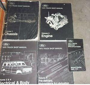 1975 ford f100 f 150 250 350 econoline truck service shop. Black Bedroom Furniture Sets. Home Design Ideas
