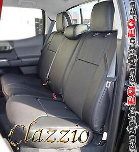 Clazzio Synthetic Leather Seat Covers (Front + Rear Rows) | 2005-2019 Toyota Tacoma