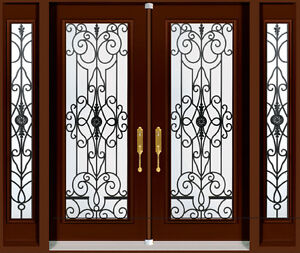 Double Front Entry Door Two Sidelights