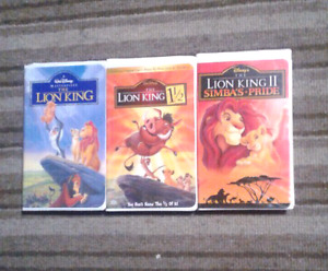 Lion King collections Walt Disney movies on VHS Excellent