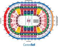 ROUGES Prix Coutant Section 122 Canadiens contre Columbus