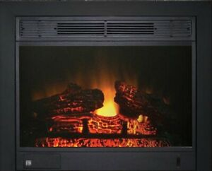 "23"" Electric Fireplace Insert 23"" Insert with Black integrated"