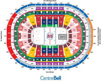 BILLETS CANADIENS VS LIGHTNING TAMPA RED ROUGE 114 TICKETS