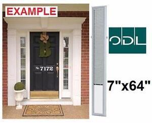 "NEW ODL SIDELIGHT DOOR BLIND 7""x64""   White Aluminum Add-on Blind for Sidelight Doors - WINDOW DOOR 98033645"