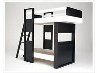 Contemporary Black and White Bunkbed, excellent condition