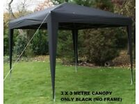 GAZEBO CANOPY 3X3 BLACK, GREAT TO COVER CARS CARAVANS GARDEN FURNITURE ETC