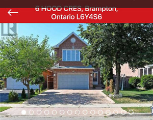 Beautiful 6 Brs + 4 bathrooms detached house available June 15