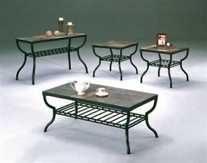 SLATE COFFEE AND END TABLE SET 4 PIECE