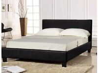 Brand New Double Or King size leather Bed Frame - Available With Quilted Mattress -Same / Next Day