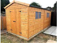 Yard, Garden & Outdoor Living Hospitable 8x6 Shiplap Apex Workshop Shed Garden Store Double Doors Fsc Sourced 8ft 6ft