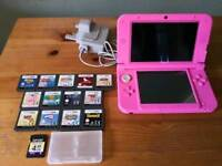 Nintendo 3DS XL Console & 13 Games Inc Mario, Sonic, Sims etc, Memory Card & Charger