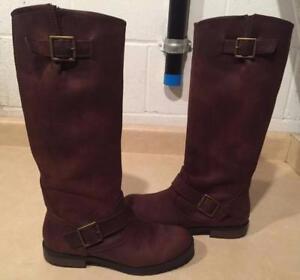 b420e8c9d3d Womens Size 7.5 Xhilaration Brown Leather Boots