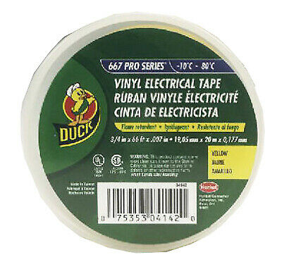 Vinyl Electrical Tape Yellow .75-in. X 66-ft.