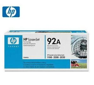 Genuine / Original HP 92A C4092A Black Laser Toner Cartridge