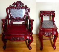 Antiquité chinoise Chaise et petit meuble