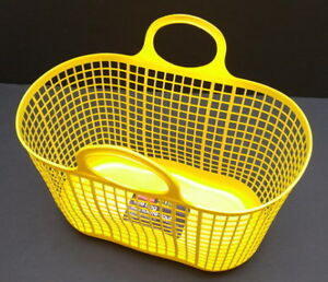 New yellow Rubbermaid plastic tote for beach, wet items etc