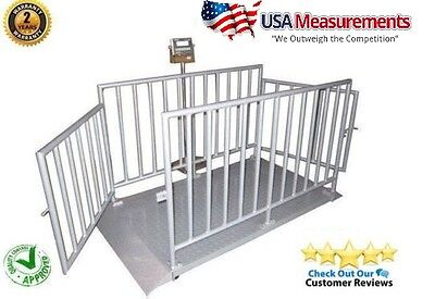 5000 Lb X 1 Lb Measurement 60 X 30 Cattle Livestock Animal Scale System Cage