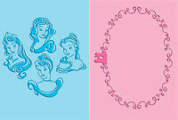 Cuttlebug Disney A2 Embossing Folder Duo Set - Princesses -$10