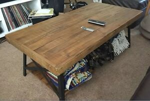 Nice Industrial Coffee Table Rustic Living Room Furniture Cocktail Wood Metal  Accent