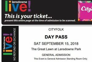 Hozier Concert ticket! - CityFolk Festival Saturday Day Pass