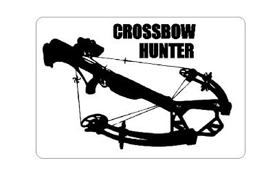 Crossbow Hunter Decal Sticker Deer Elk Archery Broadheads Barnett Parker Bow