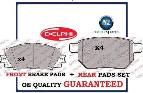 FOR LEXUS CT200 HYBRID 1.8i VVTi 2010--> NEW FRONT + REAR BRAKE DISC PADS SET