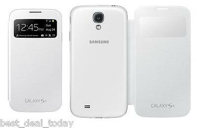 OEM Samsung S-View Flip Cover Pouch Case White For Galaxy S4 S-4 Mini SView IV