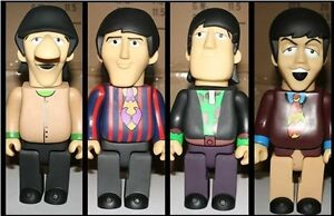 Beatles-Yellow-Submarine-CERAMIC-4DOLLS-figures-toys-rare