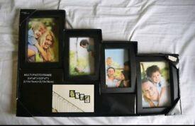 Black Multi photo frame
