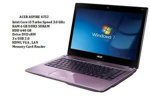 ACER ASPIRE 4752 14'' Core i5 TURBO 3.0GHZ 6GB 640GB