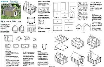 Large Dog House Plans Gable Roof Style Doghouse 90304G, Pet Size up to 150 lbs