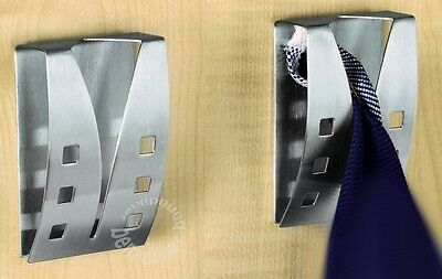 (EV) 4 x HANDTUCHHALTER EDELSTAHL Geschirrtuchhalter Tuchhalter Handtuchhaken