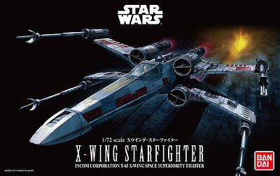 Bandai 1/72 Scale Model Kit Star Wars X-Wing Fighter Starfighters