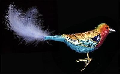 LILAC-BREASTED ROLLER CLIP-ON BIRD OLD WORLD CHRISTMAS GLASS ORNAMENT NWT 18060
