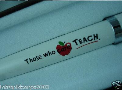 CROSS Solo HALLMARKED PEN FOR TEACHER  APPRECIATION. Those who care teach