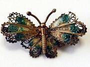 Vintage Enamel Butterfly Brooch