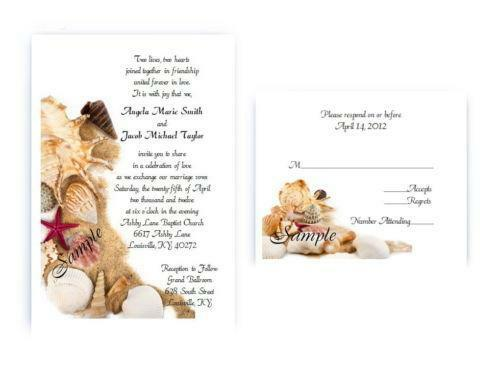 Starfish Wedding Invitation Kit: Beach Wedding Invitations