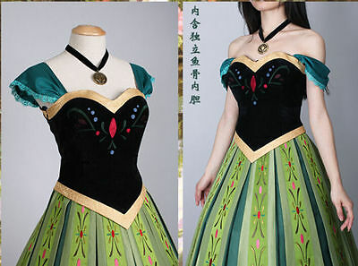Frozen Snow Anna Adult Fancy Dress Princess Queen Cosplay Costume EXPRESS - Express Fancy Dress