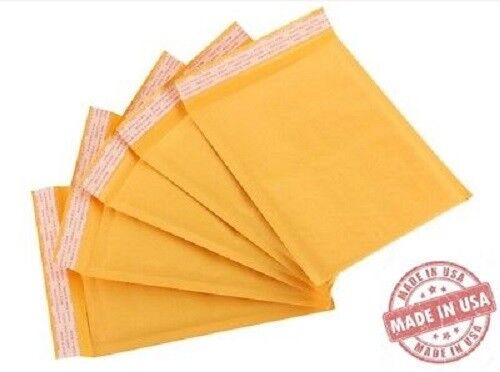 200 #1 7.25×12 USA Kraft Bubble Mailers Envelopes Bags 100% Recyclable Business & Industrial