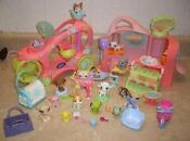 Littlest Pet Shop Playset Lot
