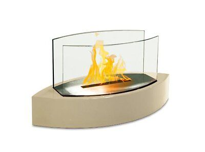 Anywhere Fireplace Beige Lexington Tabletop Bio Fuel Ethanol Indoor Outdoor Home Ethanol Biofuel Fireplace