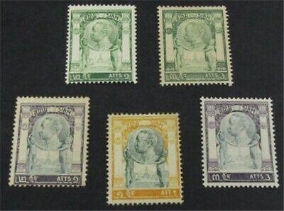 nystamps Thailand Stamp # 92-96 Mint OG H $33   L23y1166