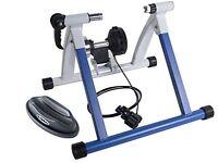 Variable resistance bike trainer
